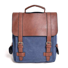 Load image into Gallery viewer, Unisex Large Capacity Vintage Canvas Backpack - Nesavastore