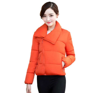 Women's Stand Collar Winter Solid Stylish Jackets  -Shop Electronics, Fashion, Beauty, Home & Garden & More @Nesavastore