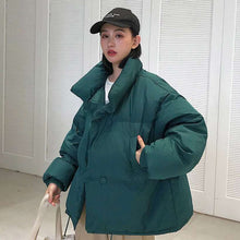 Load image into Gallery viewer, Women Korean Style Collar Down Coat Loose Jacket  -Shop Electronics, Fashion, Beauty, Home & Garden & More @Nesavastore