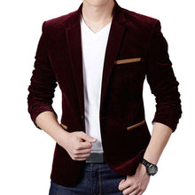 Load image into Gallery viewer, Men's Luxury High-Quality Cotton Slim Fit Blazer - Nesavastore