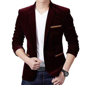 Men's Luxury High-Quality Cotton Slim Fit Blazer  -Shop Electronics, Fashion, Beauty, Home & Garden & More @Nesavastore
