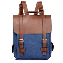 Load image into Gallery viewer, Women Leather School Bag Vintage Large Backpack  -Shop Electronics, Fashion, Beauty, Home & Garden & More @Nesavastore