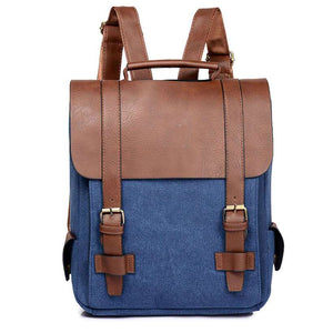 Women Leather School Bag Vintage Large Backpack  -Shop Electronics, Fashion, Beauty, Home & Garden & More @Nesavastore