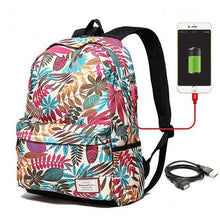 Load image into Gallery viewer, Unisex USB Charging Printing Backpack - Nesavastore