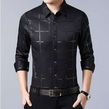 Load image into Gallery viewer, Men's Casual Spring Luxury Plaid Slim Fit Shirt - Shop Electronics, Fashion, Beauty, Home & Garden & More @Nesavastore