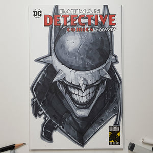 DC Batman Who Laughs Sketch Art Blank by Jeehyung Lee Exclusive