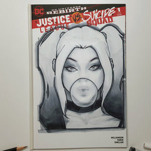 DC Harley Quinn Sketch Art Blank by Jeehyung Lee Exclusive