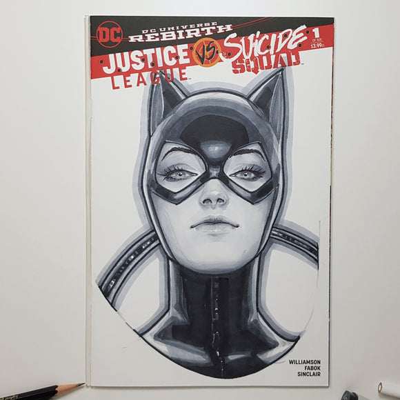 DC Catwoman Sketch Art Blank by Jeehyung Lee Exclusive