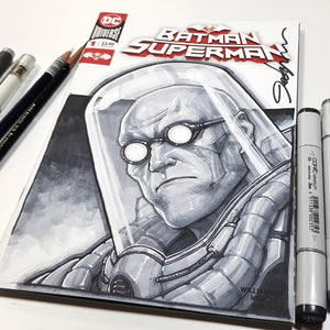 Batman's Mr. Freeze Sketch Art Blank Jeehyung Lee