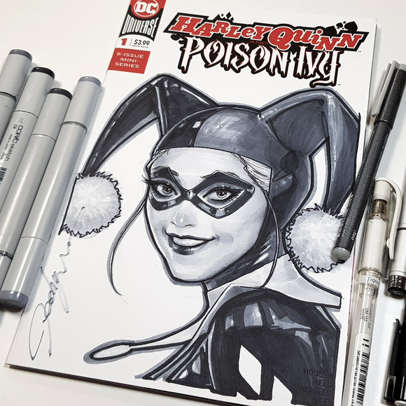 Harley Quinn Comic Book Version Sketch Art Blank Jeehyung Lee