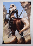 Art Print 11 x 17 Signed Jeehyung Lee Exclusive Centaur Warrior