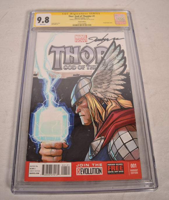 Marvel Thor God of Thunder Sketch Art Color CGC SS 9.8 by Jeehyung Lee