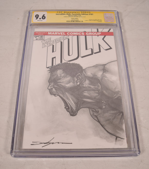Marvel The Incredible Hulk Pencil Sketch Art CGC SS 9.6 Jeehyung Lee