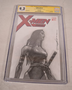 Marvel X-Men Red #1 Psylocke Pencil Sketch Art Blank CGC SS 9.2