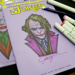 Joker Sketch Art Blank Signed Jeehyung Lee