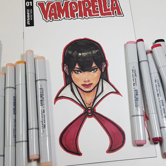 Vampirella Blank Sketch Art in Color by Jeehyung Lee Dynamite
