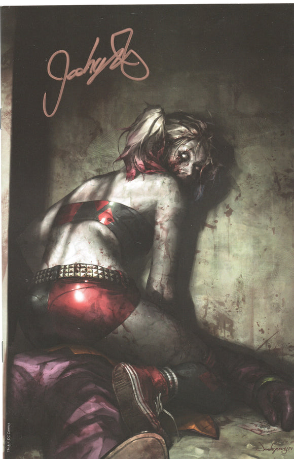 DCeased #1 Harley Quinn Zombie Virgin Signed by Jeehyung Lee DC Variant
