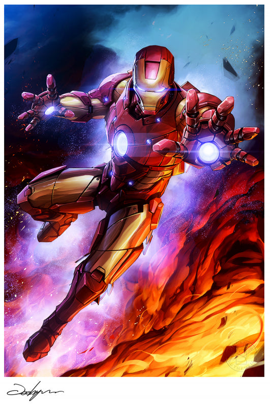 Sideshow Marvel Iron Man Art Print AP & Numbered 18 x 24 Signed by Jeehyung Lee