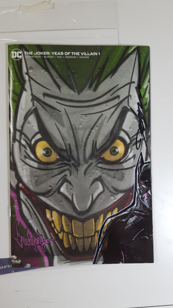 JOKER YEAR OF THE VILLAIN #1 Jeehyung Lee Graffiti Variant DC Remark