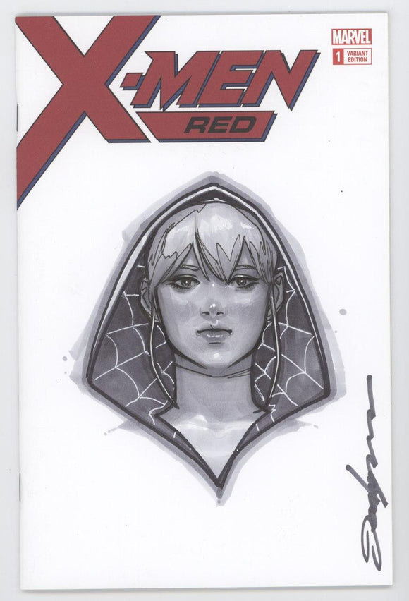 X-Men Red Marvel Blank Sketch Art Spider Gwen Head by Jeehyung Lee