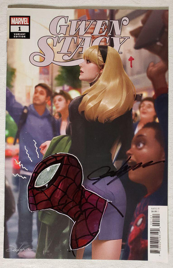 Gwen Stacy #1 (of 5) Trade Dress Variant Signed Jeehyung Lee Remark Spider-Man Marvel