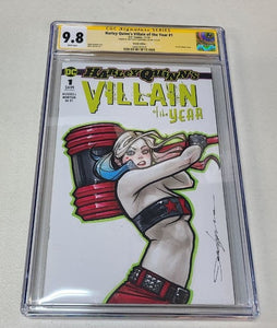 DC Harley Quinn's Villains of the Year #1 Color Sketch Art CGC 9.8 Jeehyung Lee