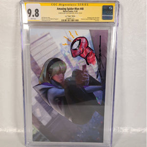 Marvel Amazing Spider-Man #48 Spider-Gwen Jeehyung Lee Variant Remarked Spider-Man CGC 9.8