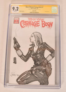 Black Widow Sketch Art Blank Signed SDCC Exclusive CGC SS 9.2 Marvel