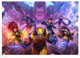 Marvel X-Men Future Fight Art Print AP & Numbered 18 x 24 Signed by Jeehyung Lee Sideshow