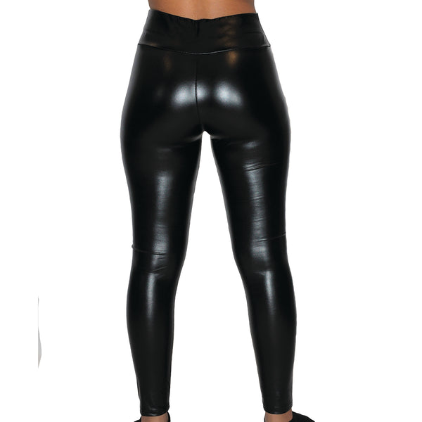 "High-Waisted ""SCULPT"" Faux Leather Leggings"