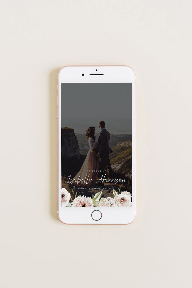 Robyn - Blush Floral Wedding Snapchat Geofilter Template