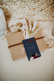 ROSA | Bordeaux Navy & Burgundy Floral Wedding Favor Tag Template