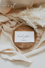 ASHER | Minimalist Calligraphy Printable Wedding Place Card Template