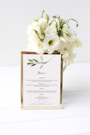 Isabella - Minimal Greenery Wedding Menu Template - Unmeasured Events