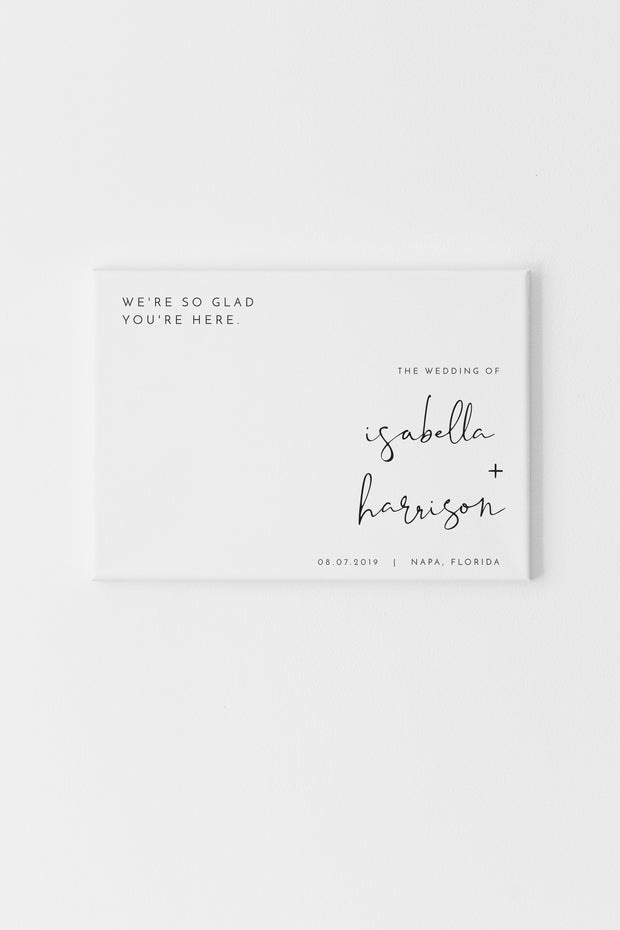 Adella - Modern Minimalist Landscape Wedding Welcome Sign Template - Unmeasured Events
