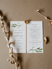 Isabella - Minimal Greenery Wedding Invitation Template Bundle