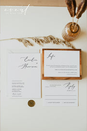 EVELYN | Elegant Minimal Wedding 3 Piece Suite Templates Printable