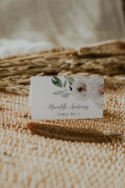 ROBYN | Blush Floral Wedding Place Card Template