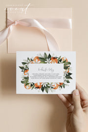 CALLIOPE | Watercolor Orange Blossom Printable Books for Baby Card Template
