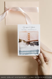 Sadie - Watercolor San Francisco Save the Date Template
