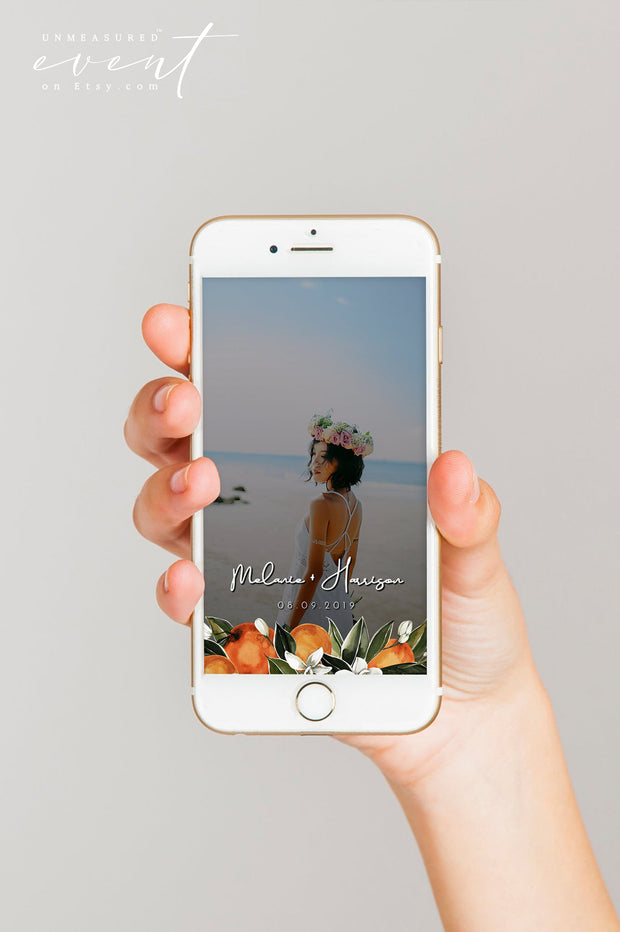 CALLIOPE | Watercolor Orange Blossom Snapchat Filter Template