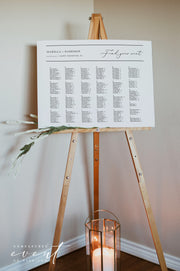 EVELYN | Elegant Minimal Wedding Printable Alphabetical Seating Chart Template
