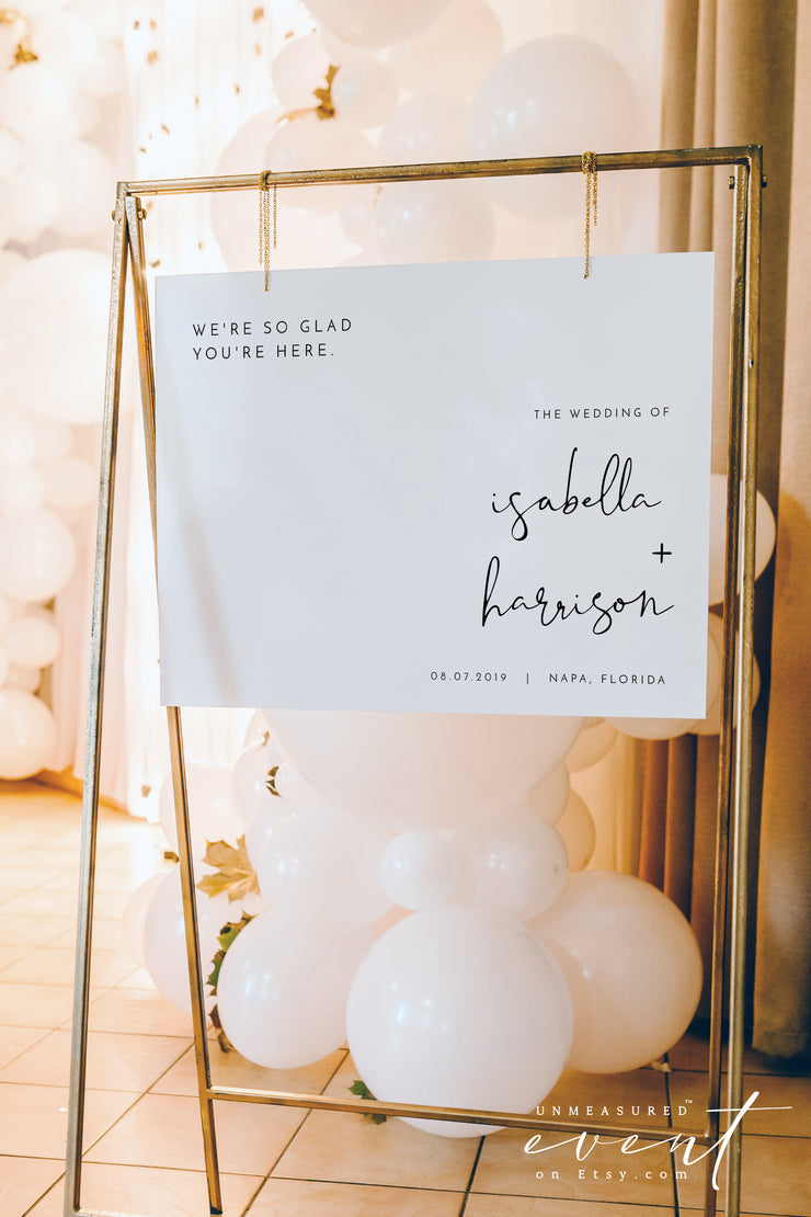 ADELLA | Modern Minimalist Landscape Printable Wedding Welcome Sign Template