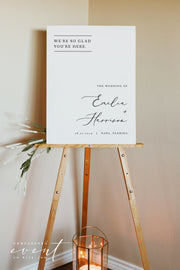 EVELYN | Elegant Minimal Wedding Welcome Sign Template