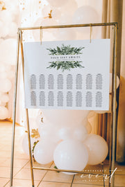 LANA | Modern Greenery Landscape Printable Table Seating Chart Template
