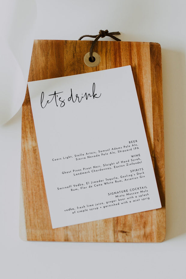 Adella - Modern Minimalist Drink Menu Template - Unmeasured Events