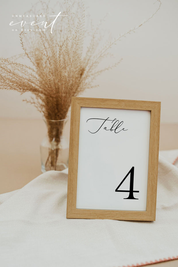 EVELYN | Elegant Minimal Wedding Table Number Template