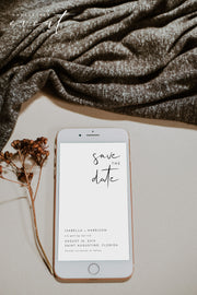 ADELLA | Modern Minimalist Instant Download Editable Text Save the Date Template