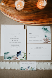 Ariel - Ocean Tropical Wedding Invitation Template Suite - Unmeasured Events
