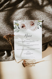 ROBYN | Blush Floral Wedding Menu Template